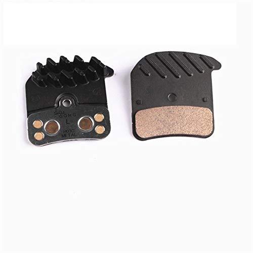 TSAUTOP H03C Metal Ice Tech Pads D03S Resin Pads Disc Brake Pads for Saint Zee BR 4 Piston M820 M640 M8020 Metal Pad Brake (Color : H03C Metal Pads)