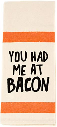 Stephanie Imports You Had Me at Bacon - 100 Percent Cotton Multi-Purpose Kitchen Dish Towel 17' x 28'
