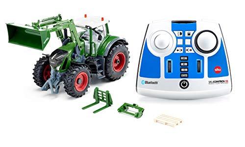 siku 6796, Fendt 933 Vario Traktor mit Frontlader, grün, Metall/Kunststoff, 1:32, Ferngesteuert, Inkl. Bluetooth-Fernsteuerung und Zubehör, Steuerung via App möglich