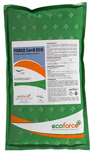CULTIVERS Force Ca+B Eco de 1 kg. Fertilizante - Abono de Calcio y Boro, 100 % soluble. Con registro ecológico. Mejorar la firmeza, el cuajado de frutos y los problemas de rajado.