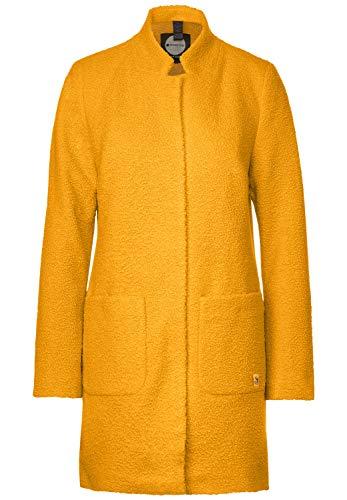 Street One Damen Mantel in Curly Woll-Optik golden Yellow 38