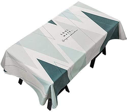 Mantel pequeño y fresco de tela de algodón y lino, rectangular para restaurante, resistente al agua, moderno mantel de café (tamaño: 140 x 180 cm)