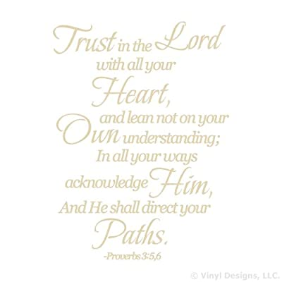 Trust in the Lord Quote Vinyl Wall Decal Sticker Art-Home Decor