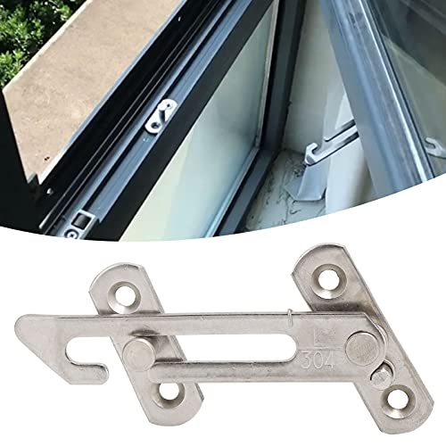 Limitador de ventana, Tope de ventana, Limitador de ventana abatible, Limitador de ventana abatible de acero inoxidable Tope Ventana corredera Cerradura de seguridad para niños Accesorios de cierre