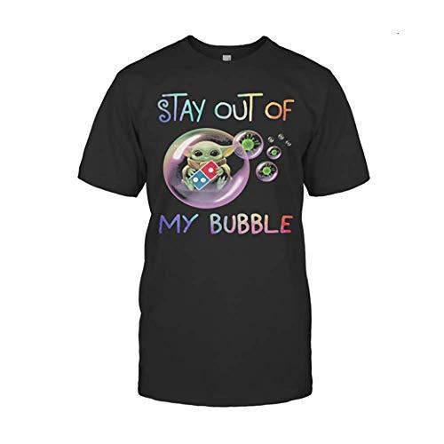 Stär wärs Bäbÿ yödä Hug Do.Min.Os Piz.Za Stay Out of My Bubble Cörönävïrüs Shirts Gifts for Men, Women, Crew Neck Short Sleeve Gifts