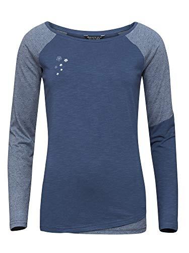 Chillaz W SAN Siro Longsleeve Blau, Damen T-Shirt, Größe 36 - Farbe Dark Blue