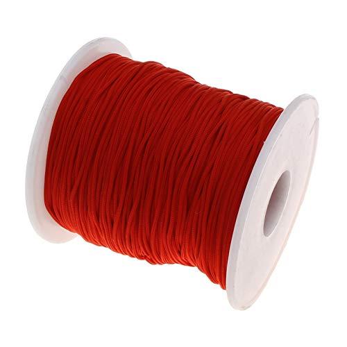 GSZPXF Vente en Gros Satin Nylon Cordon Parfait for Colliers ou Teething sensorielle Safe Silicone Collier Teething câble Accessoires de Bricolage (Color : Dark Red)