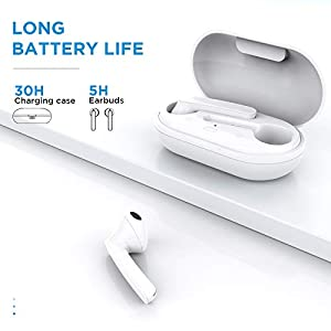 Wireless Earbuds, HSPRO Bluetooth 5.0 Headphones in-Ear with Charging Case, Waterproof Stereo Headphones with Touch Control, USB-C Charge, 30H Playtime Headset Built in Mic for Sports/Work
