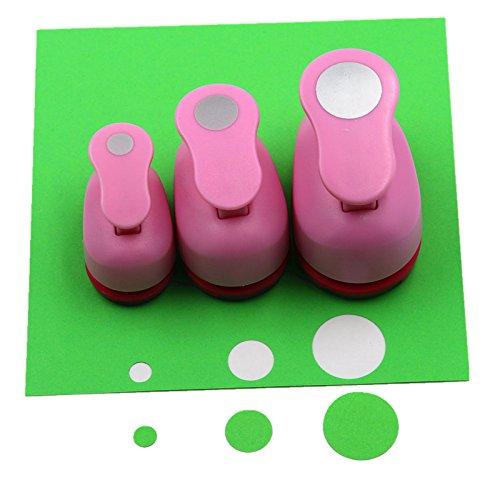CADY - Set de 3 perforadoras de papel para manualidades (8 mm, 15 mm, 25 mm) Círculo.
