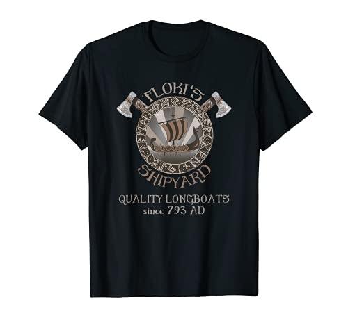 Floki's Shipyard Viking Longboat Wikinger T-Shirt