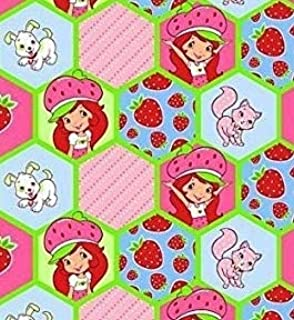 1/2 Yard - Strawberry Shortcake Pink Honeycomb Cotton Fabric (iGreat for Quilting, Sewing, Craft Projects, Throw Pillows & More) 1/2 Yard x 44