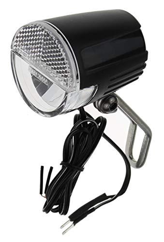 P4B | LED Scheinwerfer für Nabendynamo - bis zu 30 Lux | Breite Ausleuchtung und eine Leuchtweite bis zu 60 m für optimale Fahrbahnausleuchtung | Dynamo Scheinwerfer