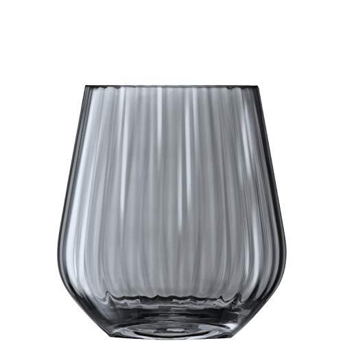 LSA ZI02 Zinc, Vaso/portacandele, altezza: 16 cm, zinco velato