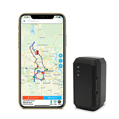 GPS Tracker - Optimus 3.0 - 4G LTE Tracking Device for Vehicles, Assets - 1 Month Battery