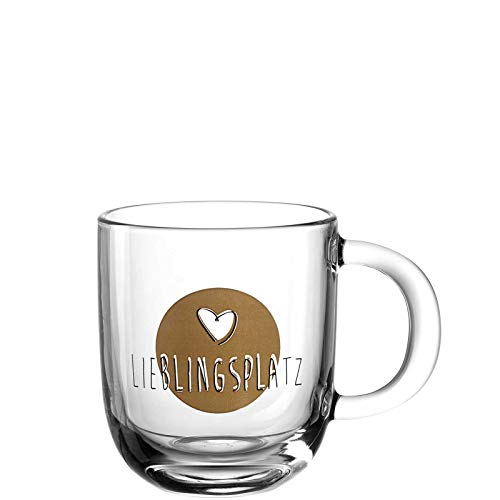 Leonardo - Tasse, Kaffeetasse, Kaffeebecher - Lieblingsplatz- Glas - Maße (BxHxT): 12,5 x 10 x 8,7 cm