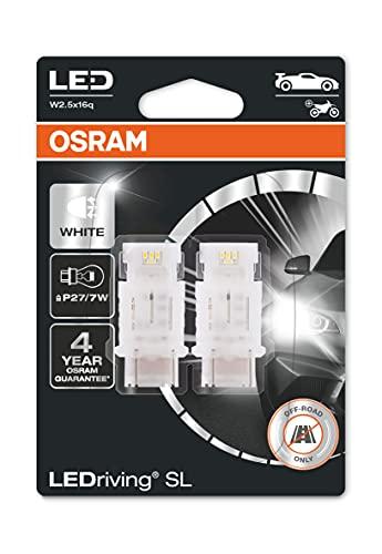 OSRAM LEDriving SL, ≜ P27 / 7W, blanco 6000K, lámparas de señalización LED, solo uso todoterreno, no ECE, blister doble