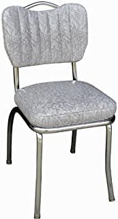 Richardson Seating Single Tone Channel Handle Back Retro Kitchen Chair with 2