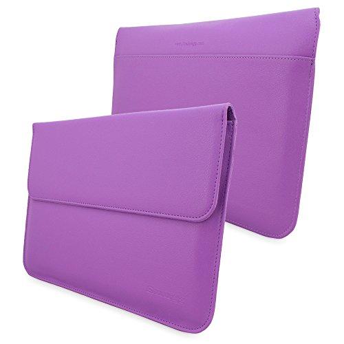 Snugg TM Schutzhülle für MacBook 12, Leder, Violett