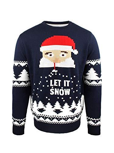 JAP Jersey Navideo Santa Let it Snow - Ajuste Libre de picazn - Unisex - 520XL