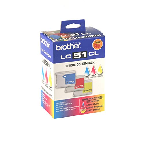 Brother Genuine Standard Yield 3 Pack Color Ink Cartridges, LC513PKS, Includes 1 Cartridge Each of Cyan, Magenta & Yellow, Page Yield Up To 400 Pages/Cartridge, Amazon Dash Replenishment Cartridge, LC51