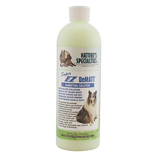 Nature's Specialties Detangling Dog Conditioner for Pets, Concentrate 12:1, Made in USA, Super EZ DeMatt, 16oz