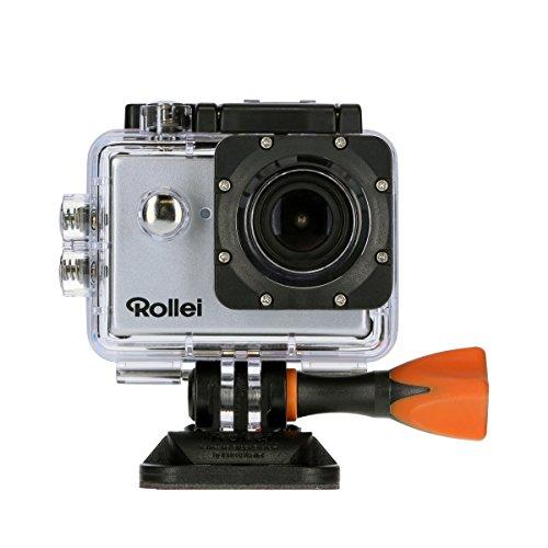 Rollei Actioncam 525 - Potente videocámara de acción con Wi-Fi y resolución de vídeo 4k de 25 fps, incl. carcasa protectora subacuática, color Plata