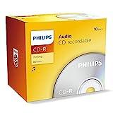 Philips CD-R CR7A0NJ10/00 - (700 MB, 80 min), paquete de 10 unidades