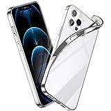 ESR Klar Silikon Hülle Kompatibel mit iPhone 12 Pro max Transparente Polymer Hülle Silberner Rahmen