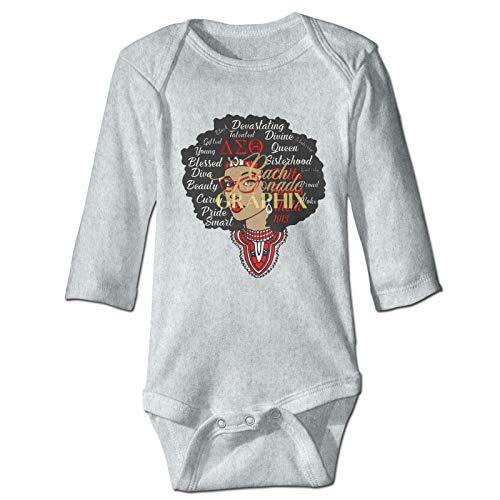 Wehoiweh D-Elta S-Igma T-Heta Unisex Baby Comfortable and Soft Long Sleeve Bodysuit Gray