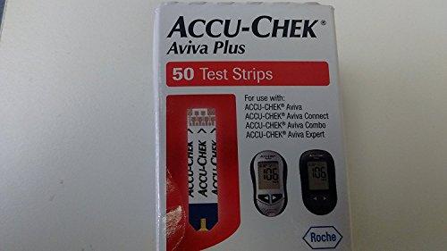 ACCU-CHEK Aviva Plus Test Strips, 50-Count Box