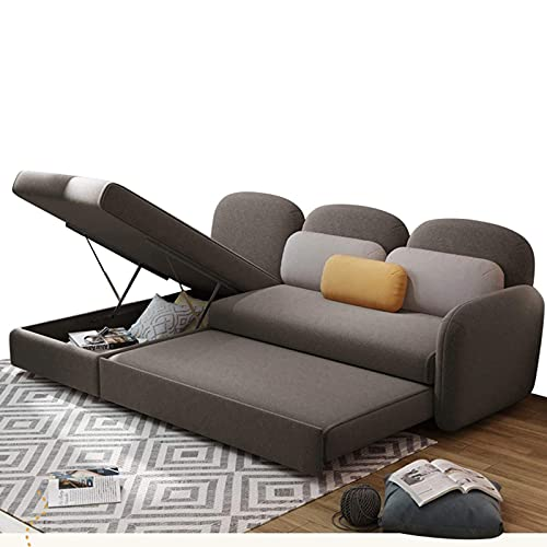 N/Z Home Equipment FYHpet Sofa Bed Dual Use Multi Function Folding Sofa L Shaped Sofa Futon for Apartment Couch Living Room Modern Sofa