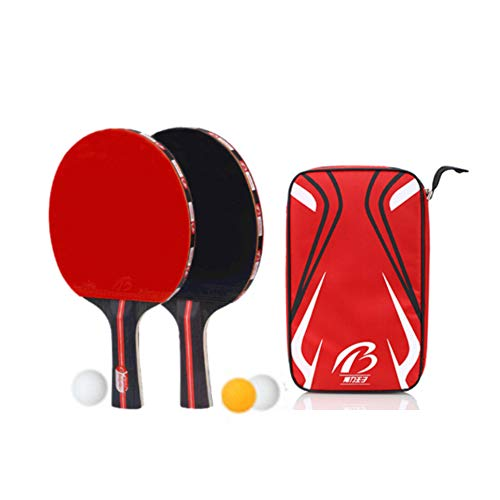Review DDNE Table Tennis Paddle, Ping Pong Paddle Set, Included 3 Balls and 2 Bats, Table Ttennis Se...