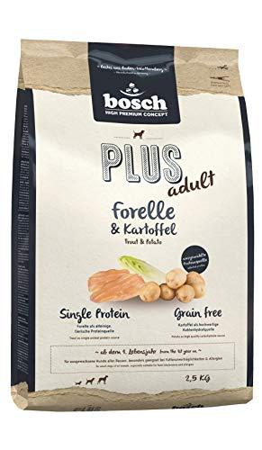 bosch HPC PLUS Forelle & Kartoffel | Hundetrockenfutter für ausgewachsene Hunde aller Rassen | Single Protein | Grain Free , 1 x 2.5 kg