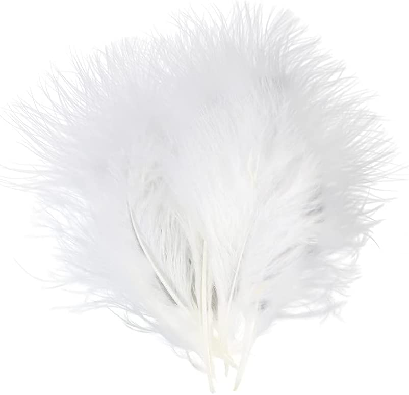 FEARAFTS 50Pcs Fluffy Large-scale sale White Turkey Rare Crafts for Feathers Millinery