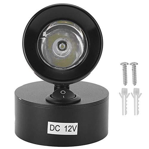Leeslamp Stijlvol Camping 12V 3W LED Markeer Binnen Spot Lichtschakelaar Leeslamp naast het bed RV Boot Camper(Warm wit)