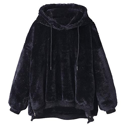 Beikoard Dame Hoodie Sweatshirt Frauen Winter warme Flauschige Mantel Frauen Wollledermantel Fleece Fell Oberbekleidung Sweatshirt Mantel