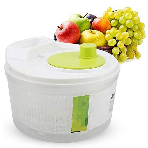 N\ A Salat Spinner Dehydration Korb Manuelle Salatscheibe Für Küche Multifunktions Küche Mix Salat Werkzeuge Gemüse AblaufKorb 23×21×15cm/5L