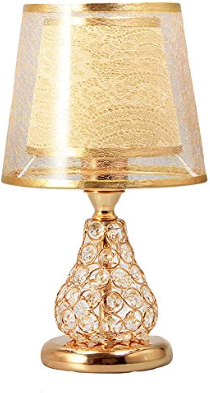 JAY-LONG Led Kristall Tischlampe, Nachttischlampe, Fernbedienung Schreibtischlampe, Romantische Hochzeit Dekor Lampe, Hause Beleuchtung, 110-240 V, 20  36 cm,Gold