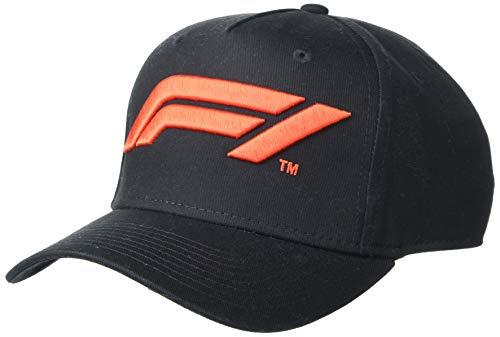 Unisex Formula 1 F1 Tech Collection Large Logo Baseball Cap, Black, One size