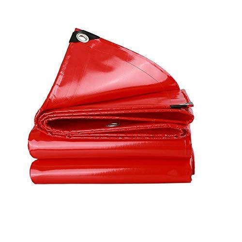 JFFFFWI Plane, PVC wasserdichte Plane Hochleistungs-LKW-Plane Bodenplatte Campingzelt-UV-beständig, verrottet, reiß- und reißfest Plane mit Ösen und verstärkten Kanten...