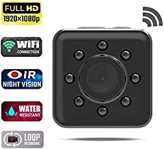 Mini WiFi Hidden Camera Wireless Spy Camere,Waterproof 1080P HD Small Nanny Cam Home Security Cameras with Night Vision for Indoor Outdoor