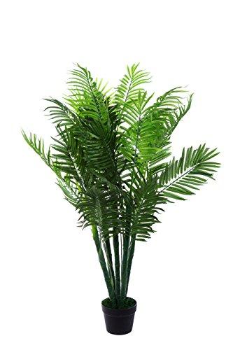 Birendy XXL Phoenix Palme. Farnpalme, Kokospalme JWT1583 Riesige künstliche grüne Phoenix Palme, Farnpalme 130 cm hoch, Kunstpflanze, Kunstblume, Kunstbaum, Zimmerpflanze künstlich