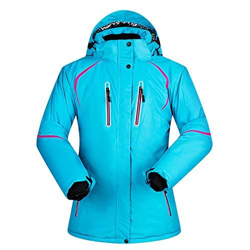 YRFDM Combinaison de Ski,Vestes De Ski Femmes Hiver Nouvelle Super Thermique Imperméable Coupe-Vent en Plein Air Femelle en Plein Air Neige Randonnée Veste De Ski Et Snowboard, tianlan, S