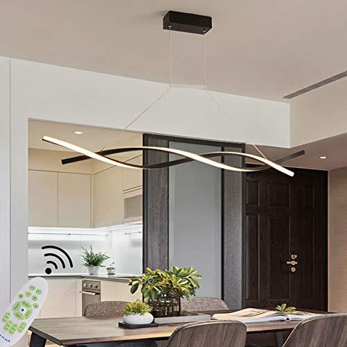 Moderne Kronleuchter LED Pendelleuchte Esszimmerlampe Dimmbar Wohnzimmerlampe Hängelampe LED Deckenleuchte Esstisch Lampe mit Fernbedienung Höhenverstellbar Schlafzimmer Büro Bad Deko Küchen Lampe