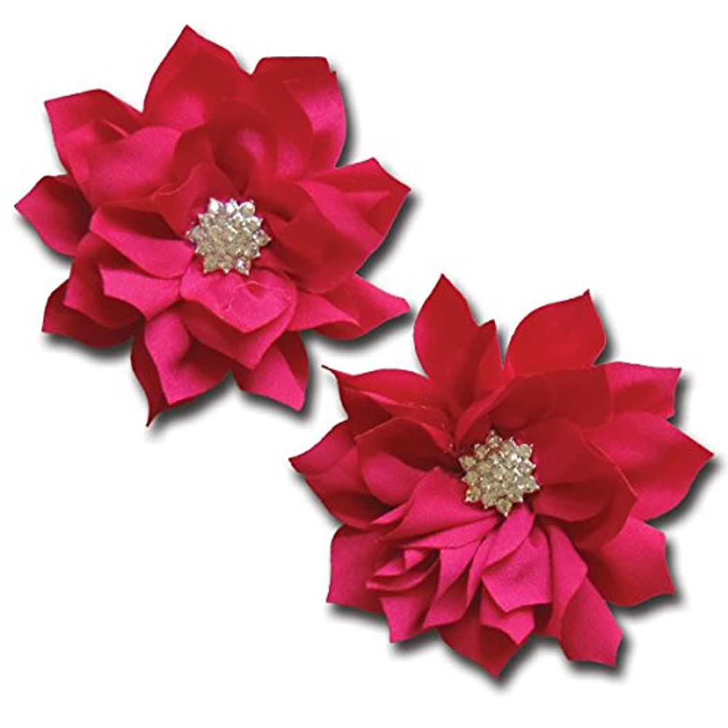 Maya Road TK3189 Shimmering Pointed Petal Flower - Fuchsia for Paper Crafts and Scrapbooking