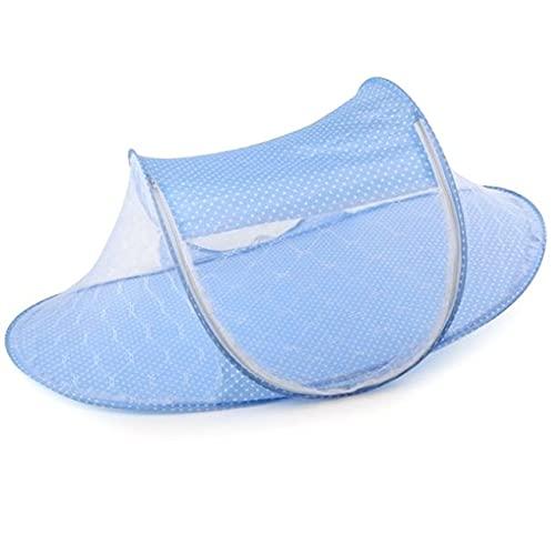 ETXP Mosquitero Cuna Netificación Portátil Cama Plegable Bebé Mosquitero Poliéster Newborn Sleep Bed Travel Netting Play Tiende Niños para el hogar y al Aire Libre (Color : 1pc Blue)