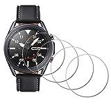 iDaPro - Pellicola protettiva per Samsung Galaxy Watch 3 45 mm, in vetro temperato, antigraffio, senza bolle, facile da installare