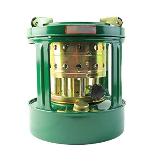 Camping Estufa Calentadores - Estufa de Queroseno Portáti de Camping Adecuado para Queroseno Diesel Alcohol con Tapa del Tanque de Combustible y Palanca de Ajuste de Potencia de Fuego (Verde)