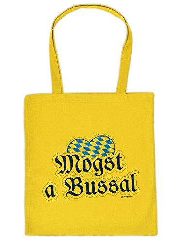 Mega Coole Bayerische Tragetasche - Boarische Redensarten - Mogst a Bussal/Goodman Design