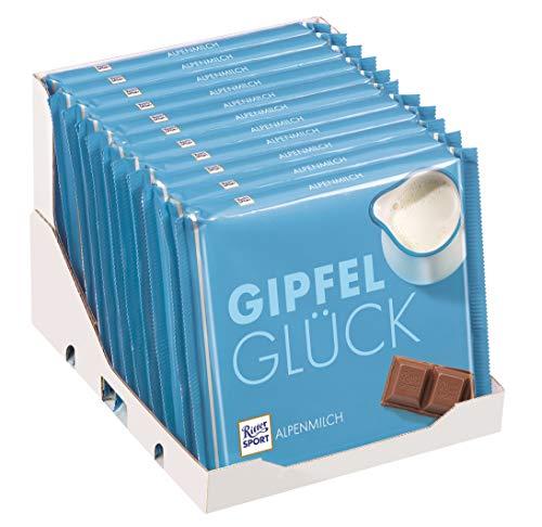 RITTER SPORT 250g Alpenmilch 30% Kakao (11 x 250 g), hochwertige Vollmilchschokolade, Großtafel mit Karamell- und Honigaroma, 100% Alpenmilch